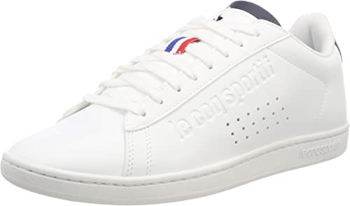 Le Coq Sportif Courtset Optical White//Dress Blue Baskets Mixte Adulte