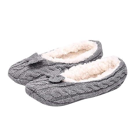 DEELIN Calcetines Para Mujer Calcetines Para Hombres Paquete- Unisex Zapatillas Antideslizantes Calcetines De Piso CáLido Fleece Pinzas Zapatillas ...