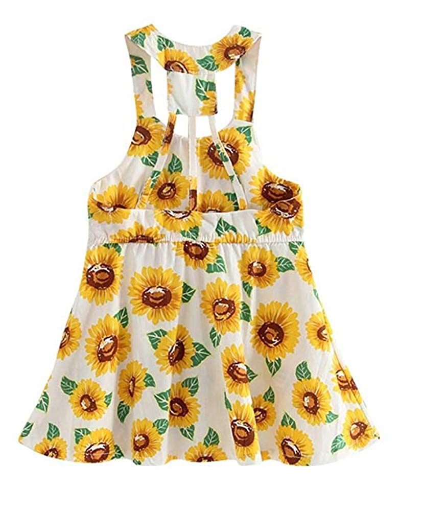 9d11305a6 Style: Sleeveless, Backless, Princess Dress, Flower Print. Cute print  dresses with sweet princess style,soft and cute ,your girls will ...