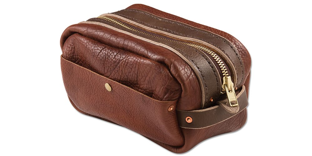 Tandy Leather Bison Dopp Kit 44066-15