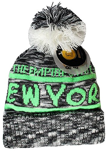 1512382d25839 Robin Ruth New York Winter Adult Knitted Beanie Grey Green at Amazon ...