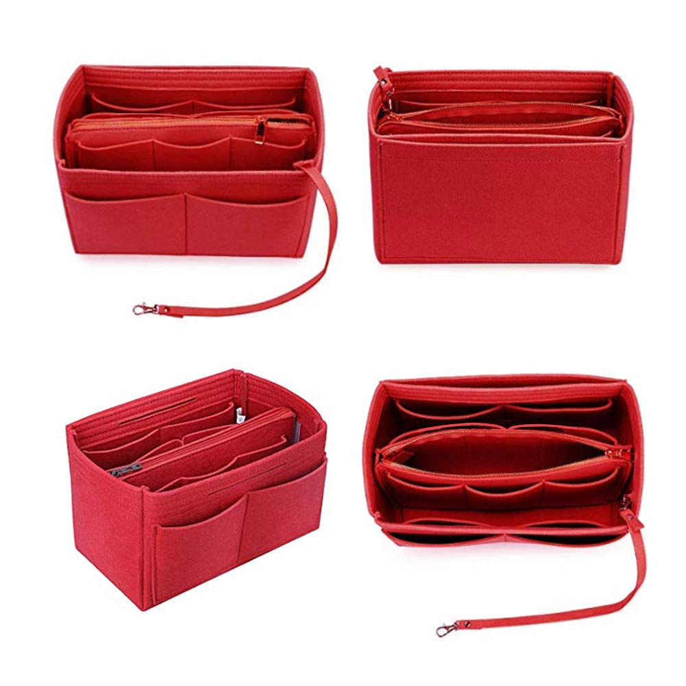 For Speedy Tote Bidiri Purse Organizer Insert Handbag /& Tote Shaper Felt Bag Organizer in Bag with Zipper