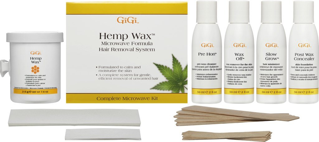 GiGi Hemp Wax Microwave Formula Hair Removal System Complete Microwave Kit 35 Piece Kit 0917