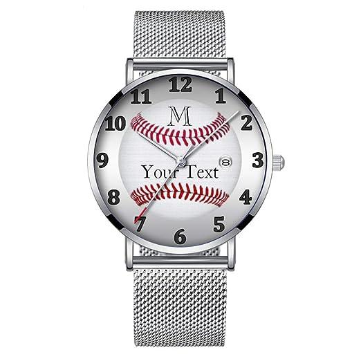 Minimalista Moda Cuarzo Reloj de Pulsera Elite Ultra Thin Impermeable Reloj Deportivo con Fecha con Banda de Malla 018.Relojes de Béisbol Personalizados ...