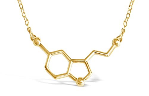 36877c248a2f2 Rosa Vila Happiness Serotonin Molecule Necklace for Women, Happy Serotonin  Necklace, Science Jewelry for Women, Ideal Necklaces for Teacher, ...