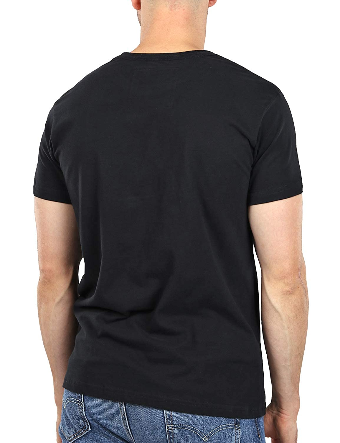 f2ef3df1515382 Muscle Fit Basics Men's Heavyweight Crew Round Neck Fitted Plain T-Shirt -  7 Colours - S M L XL XXL