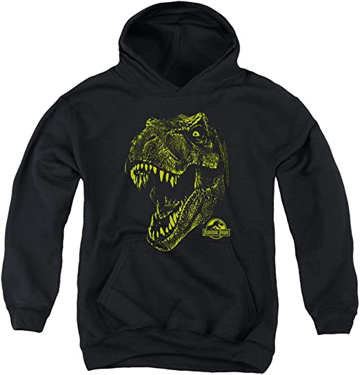Jurassic Park Dinosaur Movie Steven Spielberg Tri Mount Adult Pull-Over Hoodie