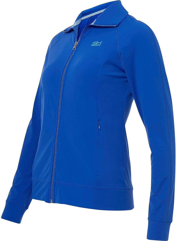 Sportkind M/ädchen /& Damen Tennis atmungsaktiv Sport Trainingsjacke mit Kapuze /& Taschen Fitness