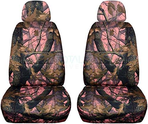pink camo print car seat covers - 7