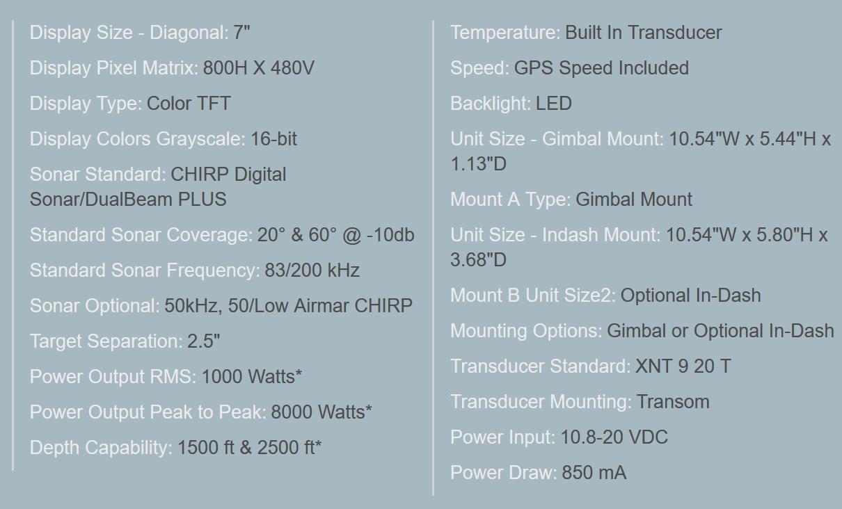Humminbird 410270-1 Helix 7 Sonar G2/Fish Finder
