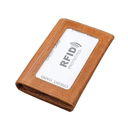 Mens Wallet Con Soldi Clip RFID Blocco Slim Portafoglio Carta Di Credito  Titolare Viaggio Minimalista Mini d45b64dfcc8