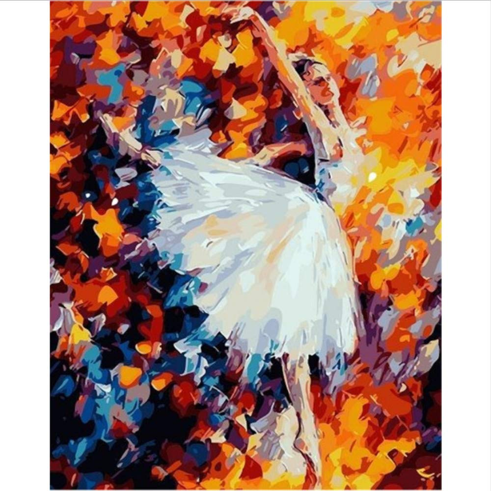 WYTTT DIY Digital Malen Nach Zahlen Paket Mondschein Ballett Färbung Wandkunst Bild Geschenk 16X20 Zoll Frameless B07Q3YZYPC   Verpackungsvielfalt