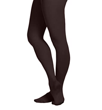 ce814750f85 EMEM Apparel Women s Ladies Solid Colored Opaque Dance Ballet Costume  Microfiber Footed Tights Stockings Fashion Black