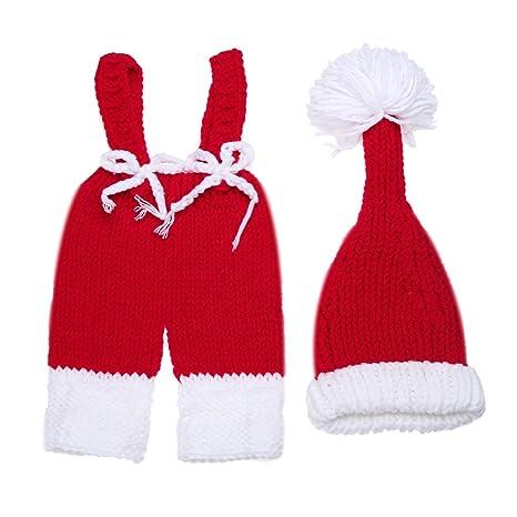 Bebé recién nacido niño niña fotografía Photo Shoot props disfraz trajes ropa gorro de Navidad pantalones