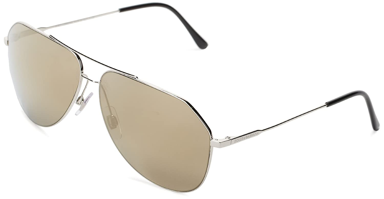ccc61202da89 Dolce   Gabbana Men s DG 2129 Thin Elegant Aviator Sunglasses
