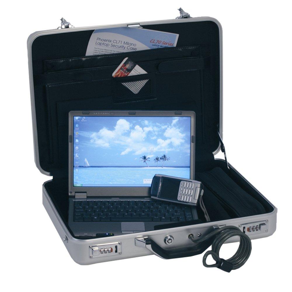 Phoenix Milano 17 Malette Argent - Sacoches d'ordinateurs Portables (Malette, 43,2 cm (17), 2 kg, Argent) 2 cm (17) SC0071C