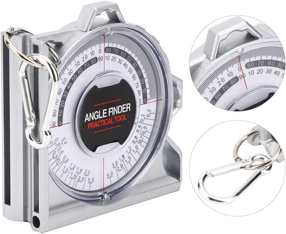 Magnetic Angle Locator,Magnetic Angle Locator Multi‑Functional Professional Protractor Woodworking Tools Magnetic Polycast Protractor