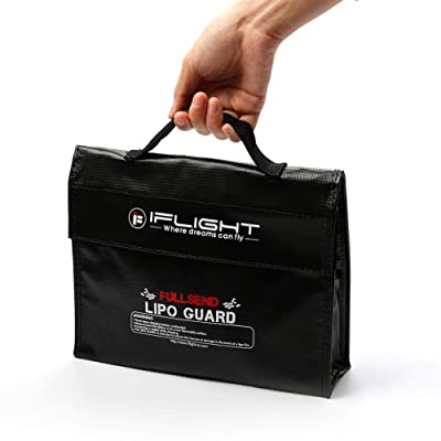 iFlight Lipo Battery Bag Fireproof Explosionproof Lipo Guard Bag Pouch Sack for Safe Charge & Storage 240x190x60mm Size: Toys & Games