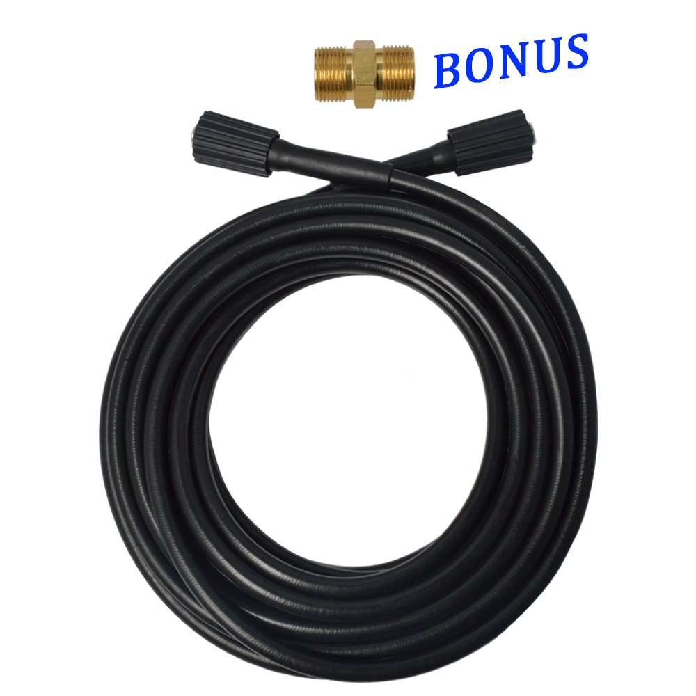 BEARFORCE High Presure Washer Hose 1/4 x 32ft x 3200psi with Extension Adapter M22