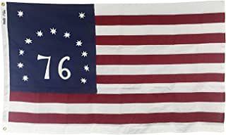 product image for 3x5' Bennington '76 Flag, Sewn and Embroidered Heavy Duty 2-Ply Polyester Outdoor Patriotic Flag, Made in The USA