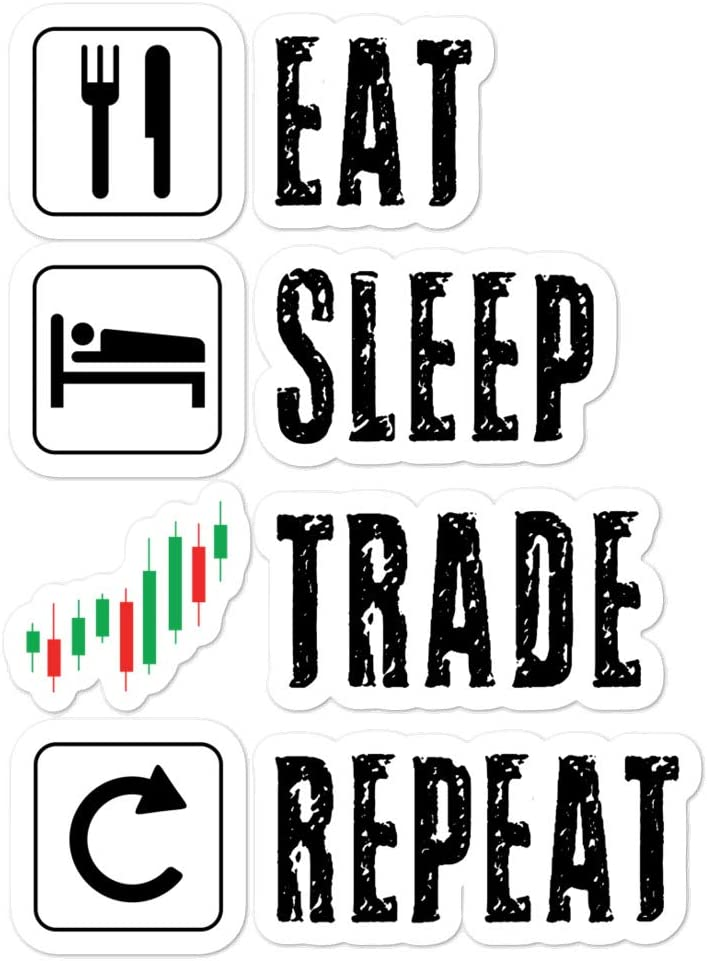 Shirtsurf Trading Sticker Stock Market Trader Options Daytrader Forex Crypto Bitcoin Bull Bear Investing Buy The Dip Decal