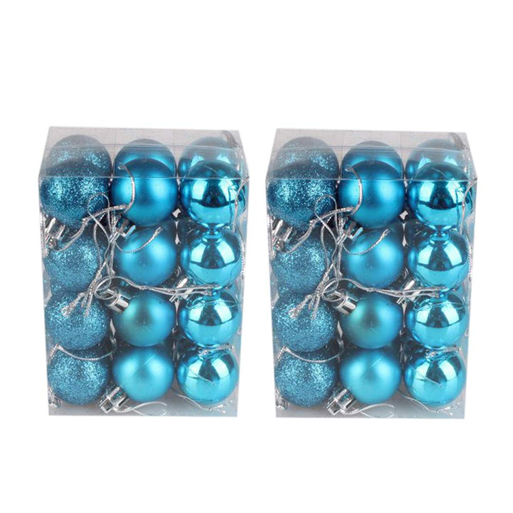 Christmas Ball Ornaments 48PC 30mm Christmas Xmas Tree Ball Bauble Hanging Home Party Ornament Decor