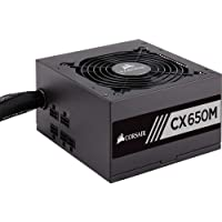 Fonte ATX - 650W - Corsair CX650M - 80 Plus Bronze - Preta - CP-9020103-WW