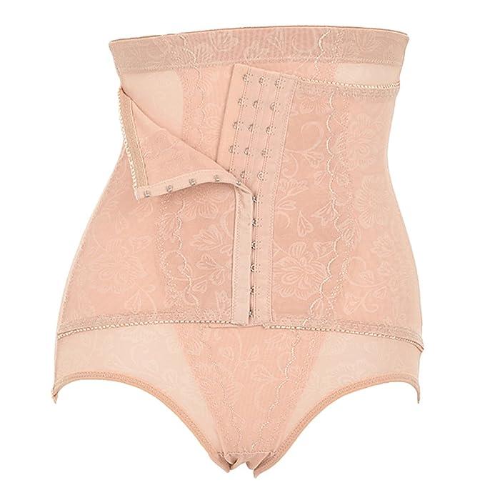 Braguitas Faja Reductora Moldeadora Shapewear Ropa Interior de Cintura Alta para Mujer Bragas Desnudo M