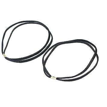 Pinzhi 2x Gummi Haarband Doppelt Haarschmuck Stretch Bänder Sport