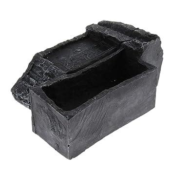 FLAMEER Cueva Escondida de Tortuga Complimentos Pecera Adornos Decoración Ornamento Duradero - M