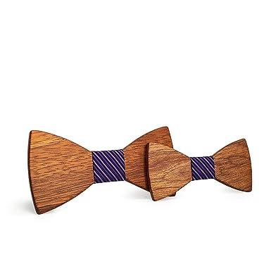 Laughingcv Corbata de lazo de madera para hombres corbata de moño ...