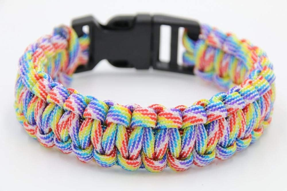 550 Survival Paracord Bracelet Men Women Military Emergency Gear Parachute Rope Braided Cord Plastic Buckle Camping Hiking Kits