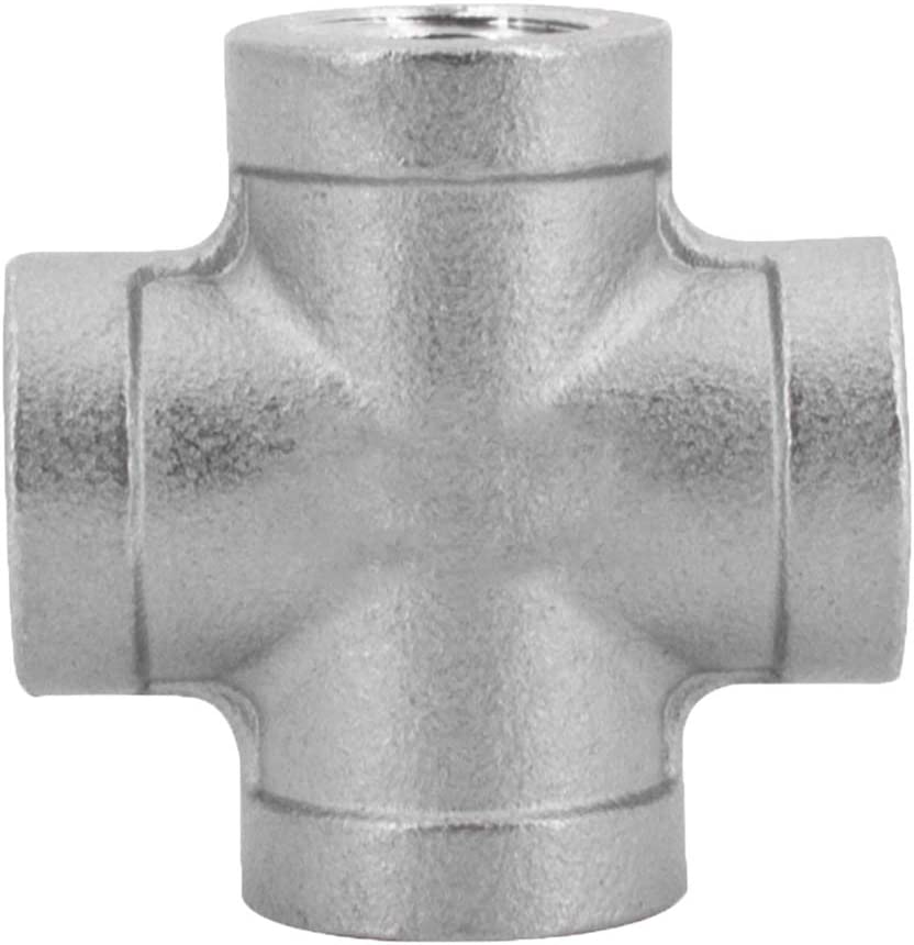 Pieza en cruz de acero inoxidable PN 20 de 1 1/4 pulgadas, racor de derivación para la industria, el comercio y el hogar.