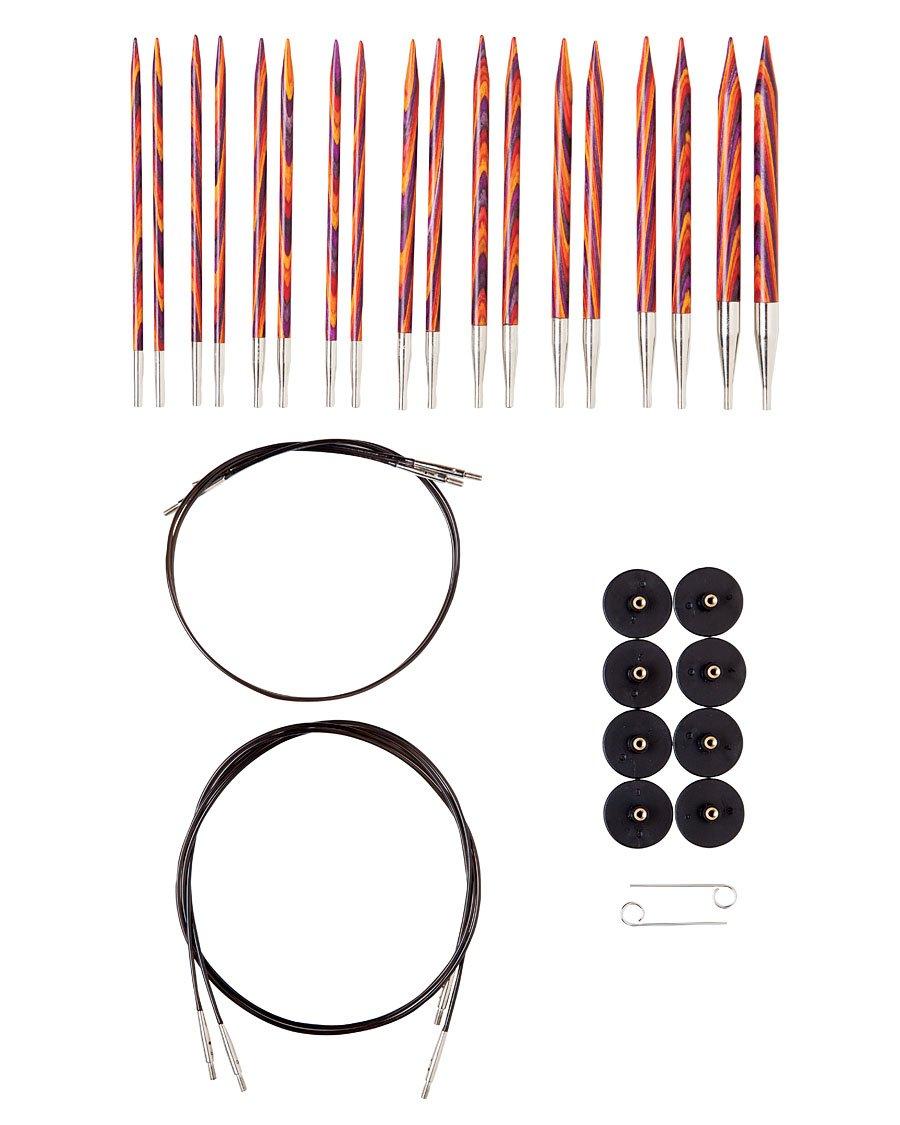Knit Picks Options Wood Interchangeable Knitting Needles Set - US 4-11 (Radiant)