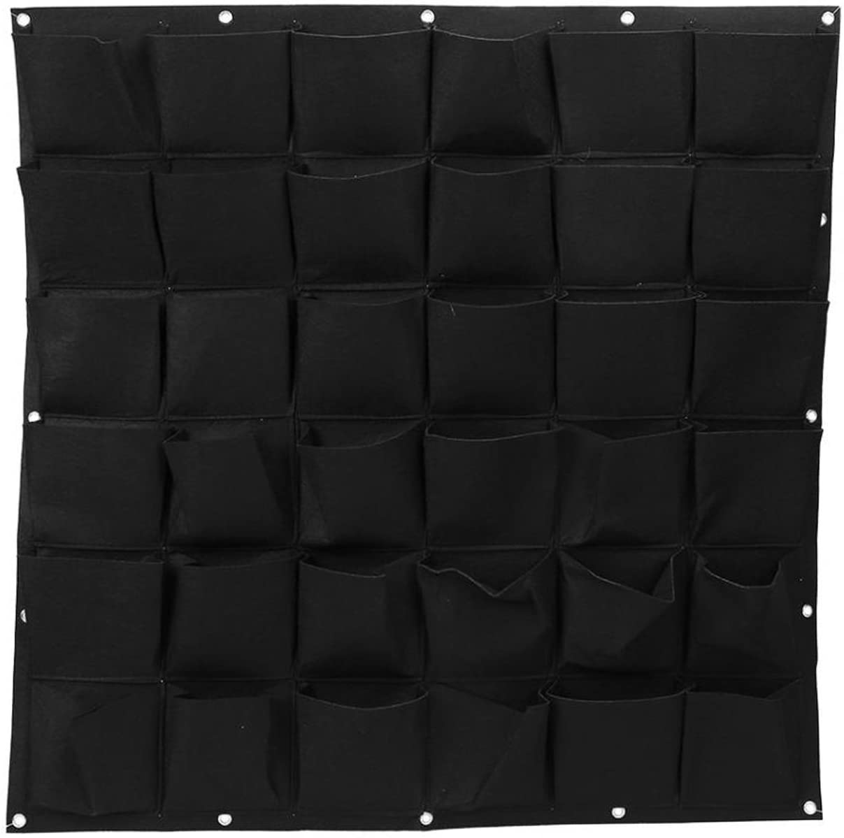 Ogrmar 36 Pockets Vertical Wall Garden Planter Plant Grow Bag for Flower Vegetable for Indoor/Outdoor (36 Pockets, Black)