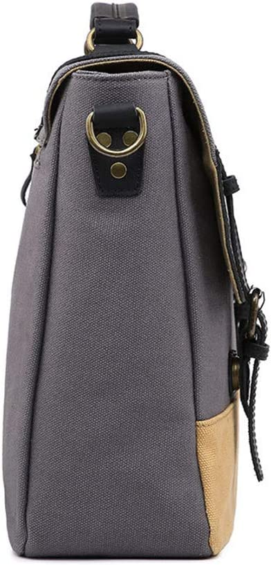 HANXIAODONG Mens Laptop Messenger Bag Shoulder Bag Mens Canvas Tote Bag Zipper Briefcase Computer Bags Travel Bags for Business Casual