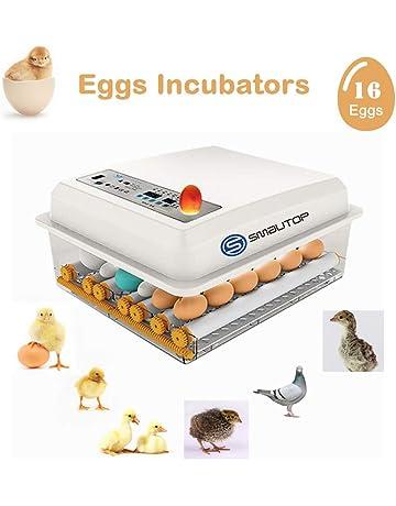 zum Gefl/ügel Enten G/änse H/ühner Wachteln Reptilien Mini Inkubator H/ühner Eier Brutger/ät bis 9 Eier mit LED Anzeige /& Temperatur Kontrolle Vollautomatische Brutmaschine