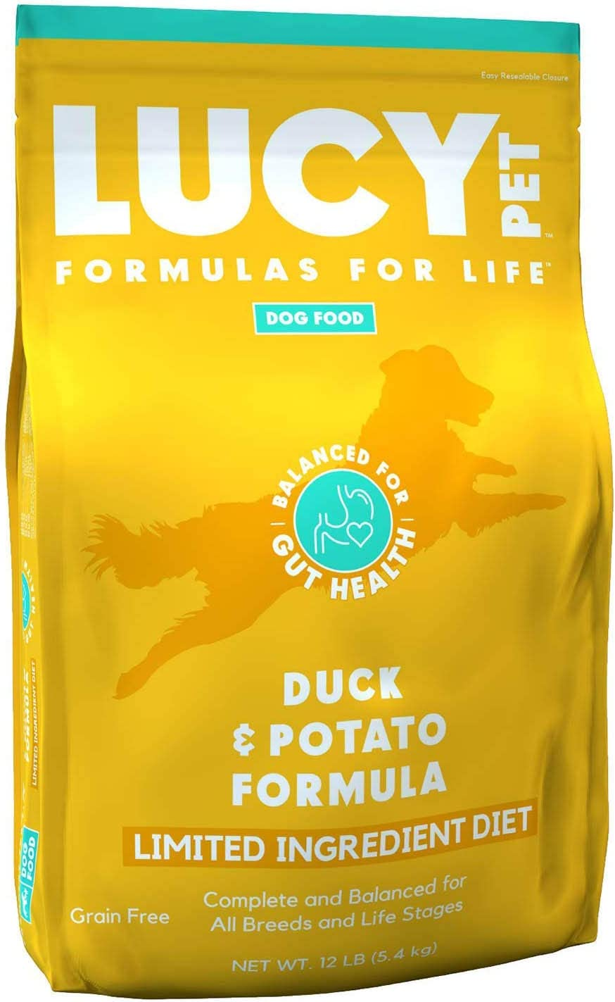 Lucy Pet Products Formulas for Life - Limited Ingredient Diet Dry Dog Food, All Breeds & Life Stages – Duck & Potato, 12 lb