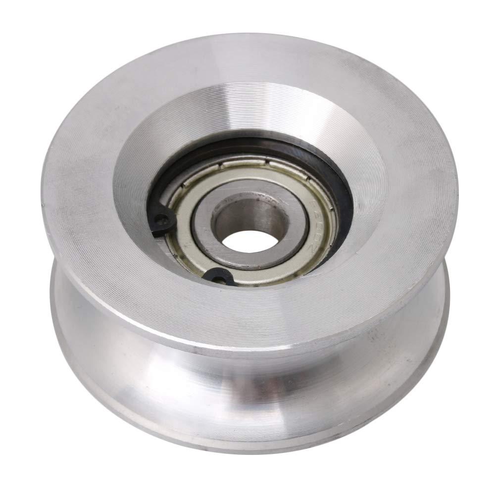 CNBTR - Poulie avec roulement à billes 6200 - 10x 60x 25mm - En forme de U - En aluminium et acier - Argent yqltd