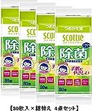 日本製紙 クレシア ウェットティシュー除菌ノンアルコール詰替80枚×4