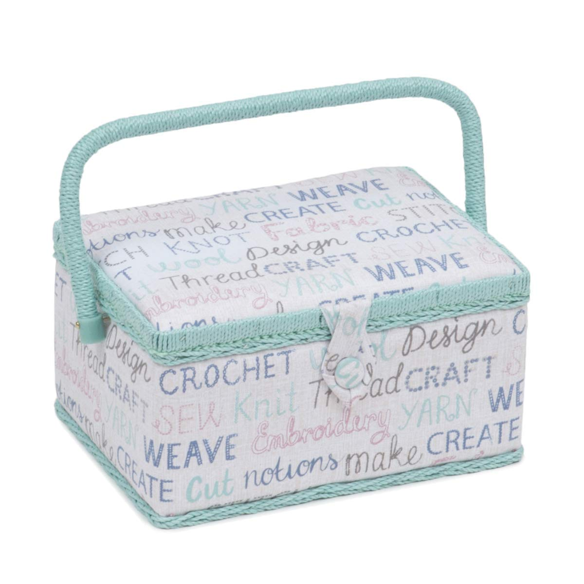 Haby Words HobbyGift MRM\439 Medium Sewing Box // Organiser 19x26x14.5cm