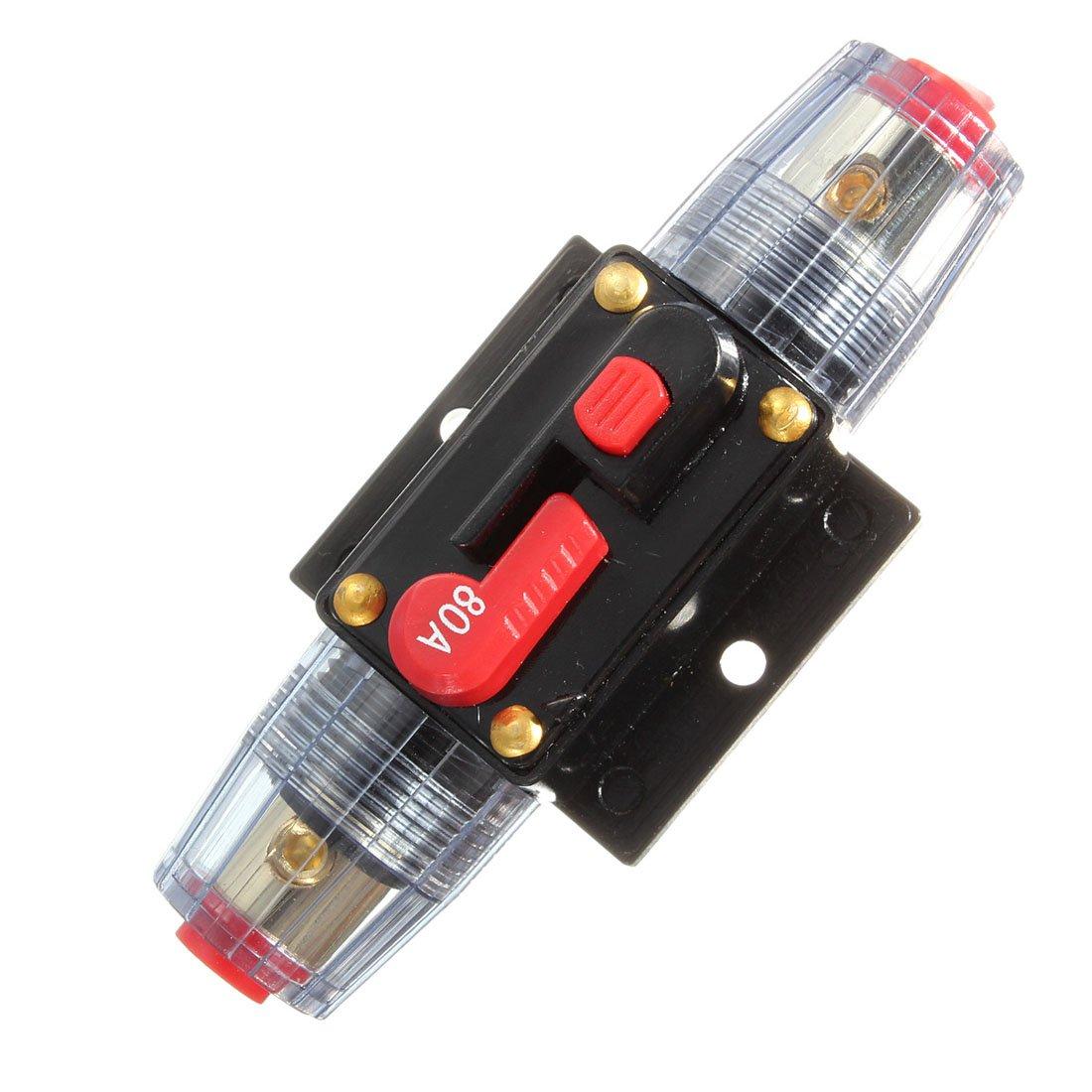 80AMP 80A DC 12V//24V//32V Car Stereo Audio Circuit Breaker Inline Fuse Holder