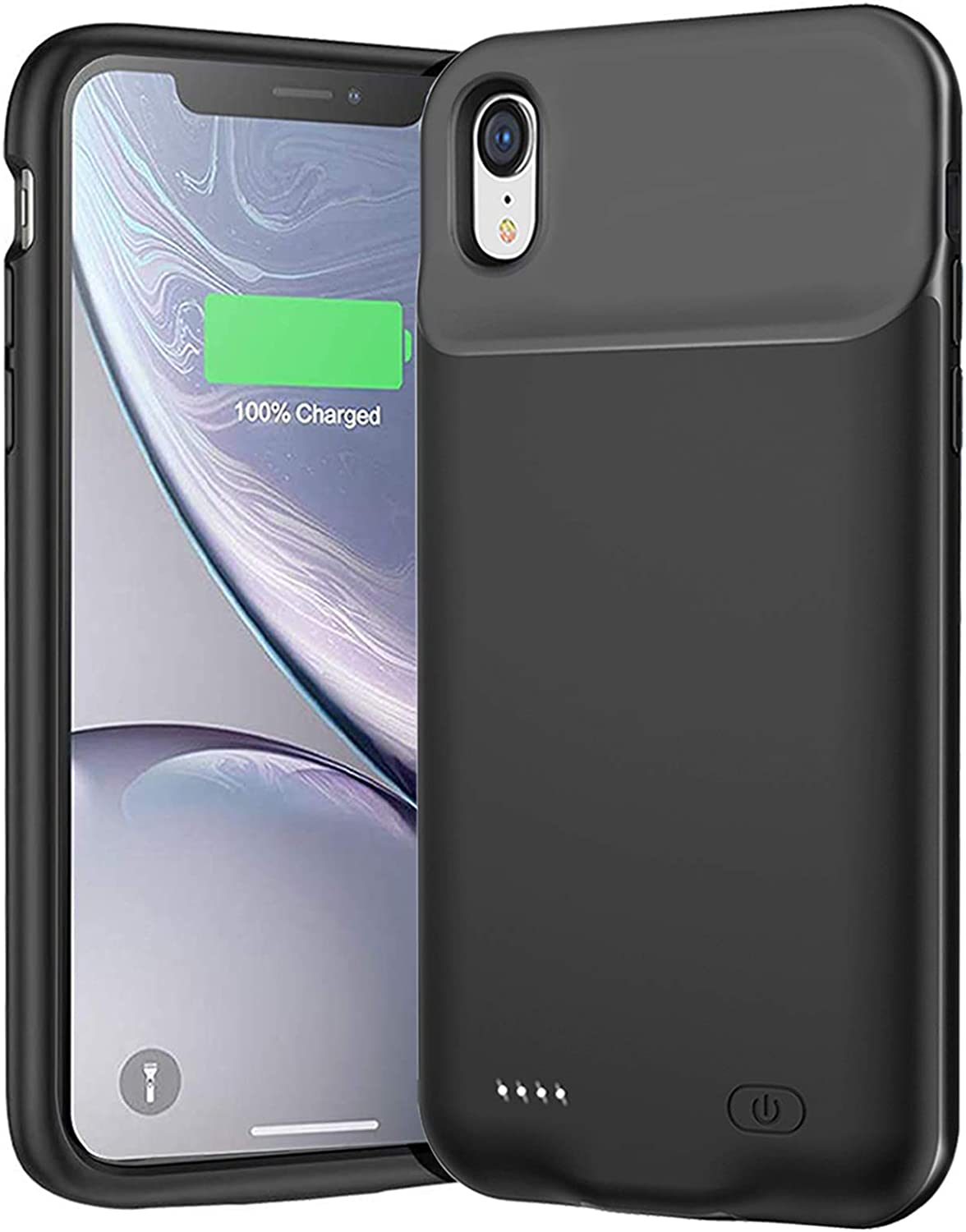 Battery Case for iPhone XR, Newest 7000mAh Slim Portable Protective Charging case Compatible with iPhone XR (6.1 inch) Rechargeable Battery Pack Charger Case (Black)