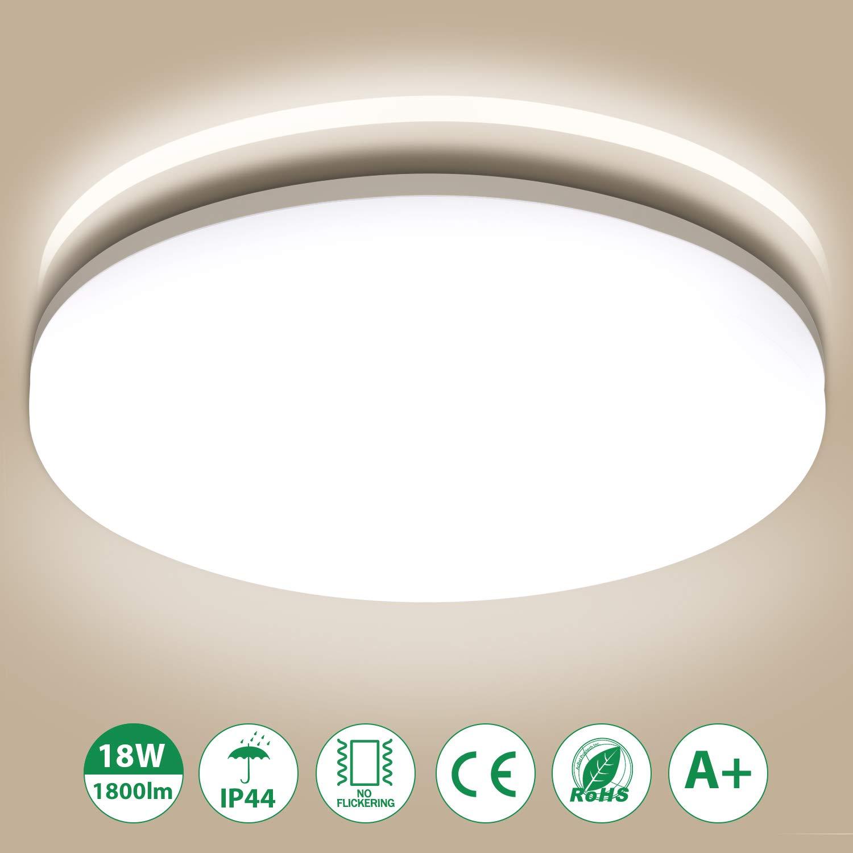 Oeegoo LED Deckenleuchte Badlampe, 8W 800lm Flimmerfreie