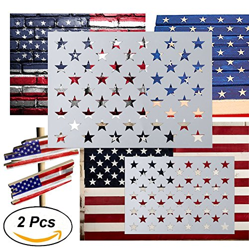 American Flag 50 Star Stencil for Painting on W...