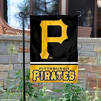 amazon pittsburgh pirates両面ガーデン旗 wincraft フラッグ