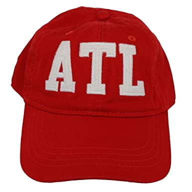 bcae3c48b97 ATL Atlanta Airport Code Felt Logo Hat Red at Amazon Men s Clothing ...