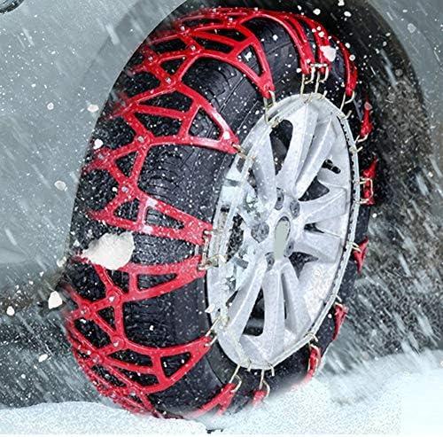 非金属タイヤチェーン マウント緊急トラクションへの容易なポータブルタイヤ用R17アンチスキッド45分の245スノーチェーン タイヤチェーン 軽自動車 (Color : Red, Size : 650 R16)