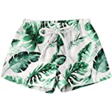 aturustex Toddler Baby Boy Hawaiian Beach Shorts Pineapple Leaf Print Swim Trunks Kids Broad Shorts Surf Swimwear