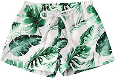 Swimming Trunks Summer Tropical Fruit Hand Drawn Pineapple Adjustable Shorts for boyswith Drawstring